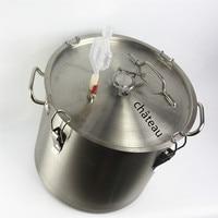 10 to 34 L stainless steel bucket fermentation tank for vodka moonshine beer wine cidre gin whisky wine beer bucket