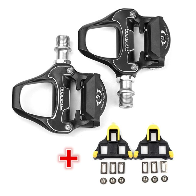 Nouveau 298g cr-mo essieu auto-verrouillage pédales de vélo de route avec crampons CNC en alliage d'aluminium corps portant des pédales de vélo de route pédale de route BMX