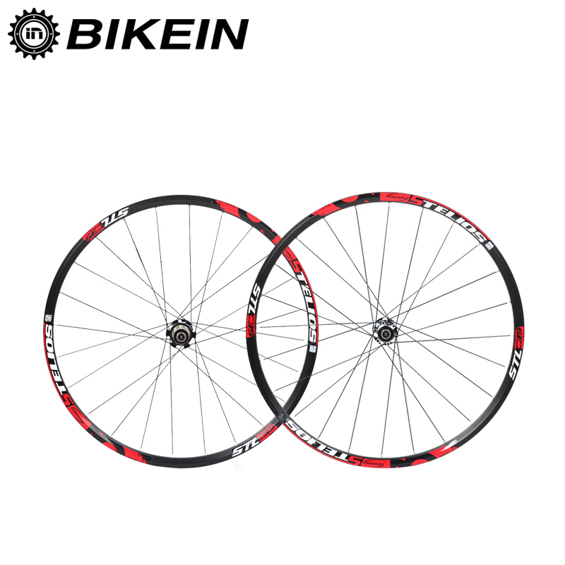 BIKEIN Aluminum 8/9/10/11 Speed Disc Brake Mountain Bicycle Wheelset 7 Bearing 120 Sounds Hub 6 Colors Rim 26/27.5 Bike Wheels aluminum alloy disc brake 8 9 10 68mm 26 17 42 52mm headset bicycle frame
