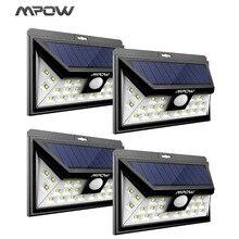 Mpow 24 светодио дный солнечное освещение 4 шт. IP65 Широкий формат безопасности движения Сенсор света с 3 режимами движение активированный для наружной сад