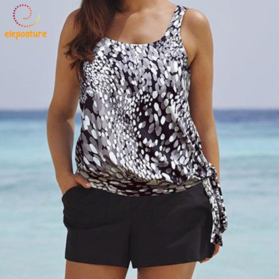 2019 Tankini Swimsuits Women Plus Size Swimwear High Waisted Bathing Suits Beachwear Vintage Retro Swimming Suit Maillot De Bain