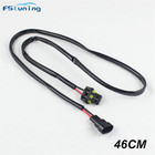 FSTUNING 9006 h8 h11 ballast power cable conversion harness socket adapter 9006 H8 H11 HID LED headlight fog lamp connector wire