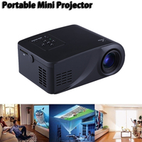 Mini Household HD Miniature LED Projector 3D Home theater Portable Cell phone projector High quality focusing lens 1080P HD TOP