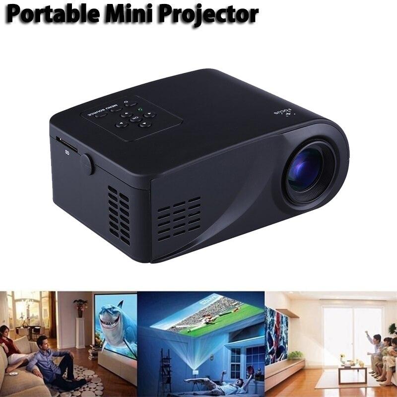 Mini Ménage HD Miniature LED Projecteur 3D Home cinéma Portable Cellulaire téléphone projecteur Haute qualité lentille de focalisation 1080 p HD TOP