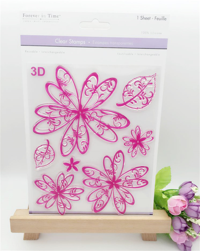flowers and snow stamp silicone DIY Transparent Clear Rubber Stamp Photo Album Scrapbooking paper Card LL-188 lovely bear and star design clear transparent stamp rubber stamp for diy scrapbooking paper card photo album decor rz 037