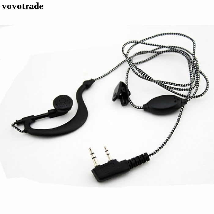 toopoot 2PIN High Quality Earpiece Headset Mic For Radio Security Walkie Talkie  Feature best price 2 pin noise reduction concealment air duct earpiece for walkie talkie two way radio black c002