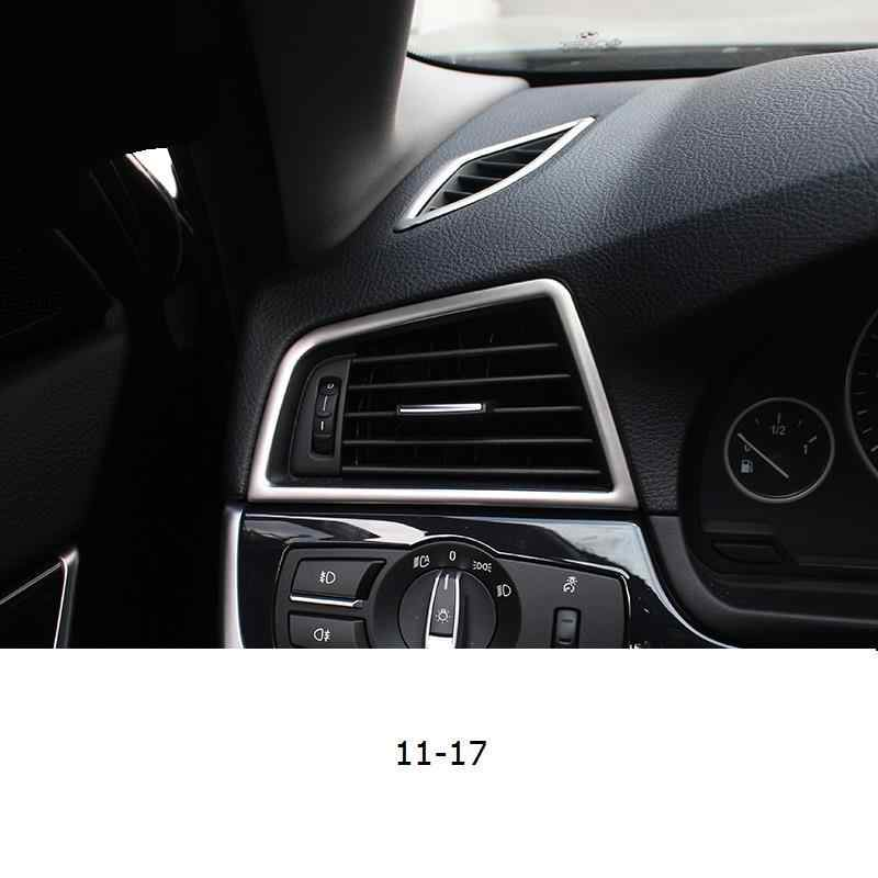 Auto Chroom Dashboard Control Systeem Airconditioner Interieur Protecter Trim Auto 11 12 13 14 15 16 17 VOOR BMW 5 serie