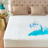 GIGIZAZA Waterproof Mattress Protector Queen King Size White TPU Foam Back Quilt Mattress pad Cover for Kids Bed