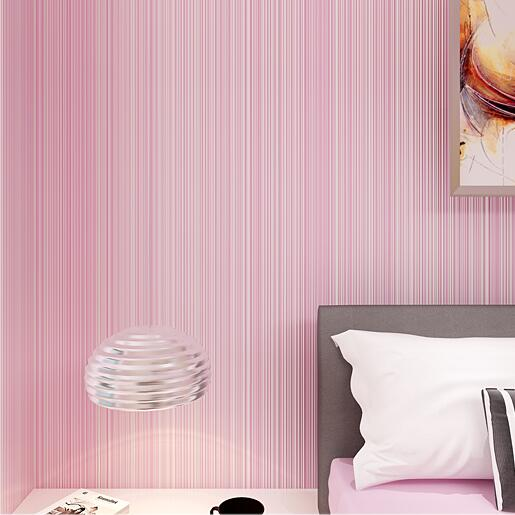 Modern Simple Cozy Yellow Pink White 3D Striped Wallpaper For Walls ...