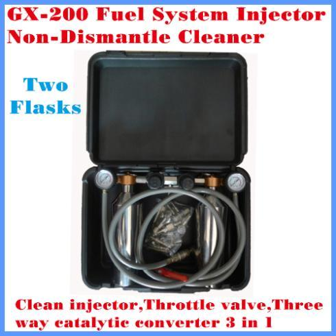 Fuel System Fuel injector cleaner GX-200 With 2 Flasks Clean injector,throttle valve,three way catalytic converter 3 in 1