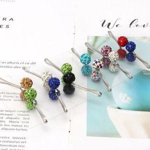 Image 3 - 12Pcs Muslim Hijab Scarf Safety Pin Clips Rhinestone Ball Brooch Fashion Jewelry