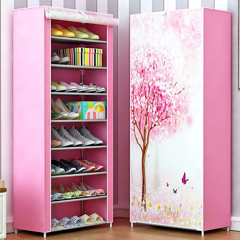 Shoe cabinet 9-layer 8-grid 3D drawing Non-woven fabrics large Shoe rack organizer removable shoe storage for home furniture