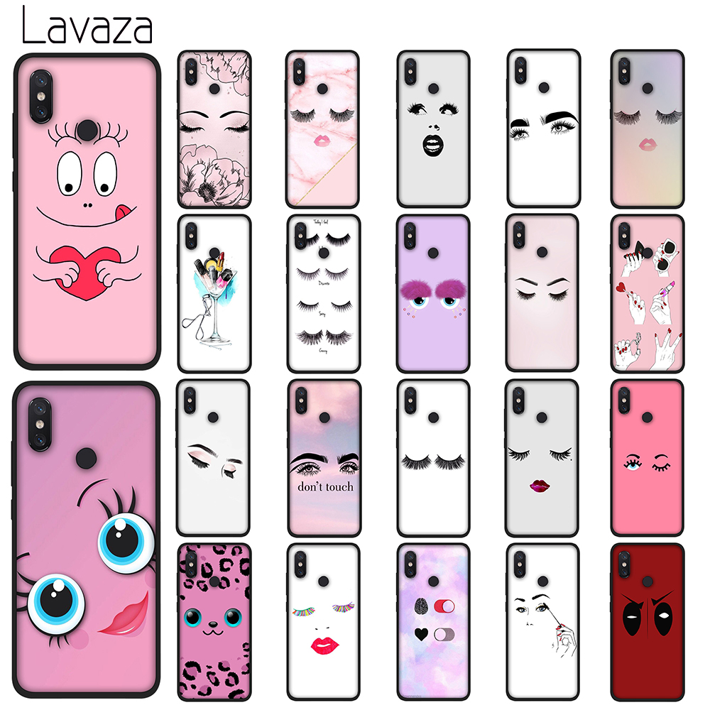 Lavaza eyelash Makeup Lip Soft TPU Case for Xiaomi Redmi Note 5 6 7 Pro for Redmi 5A 6A S2 5 Plus Silicone Cover in Fitted Cases from Cellphones Telecommunications