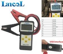 Lancol micro-200 Авто Батарея Тестер 12 В цифровой анализатор 2000cca автомобиля инструмента диагностики с USB для печати