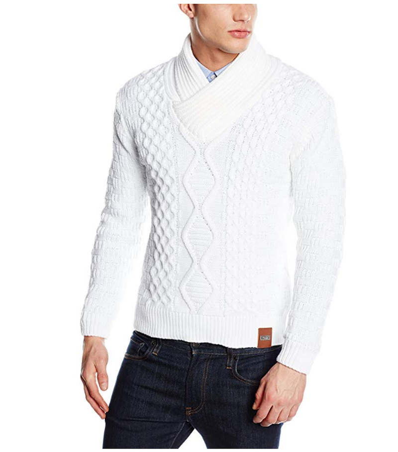 ZOGAA Winter Men's Sweater Men's Turtleneck Solid Color Casual Thick Sweaters Slim Knitted Pullovers 3XL