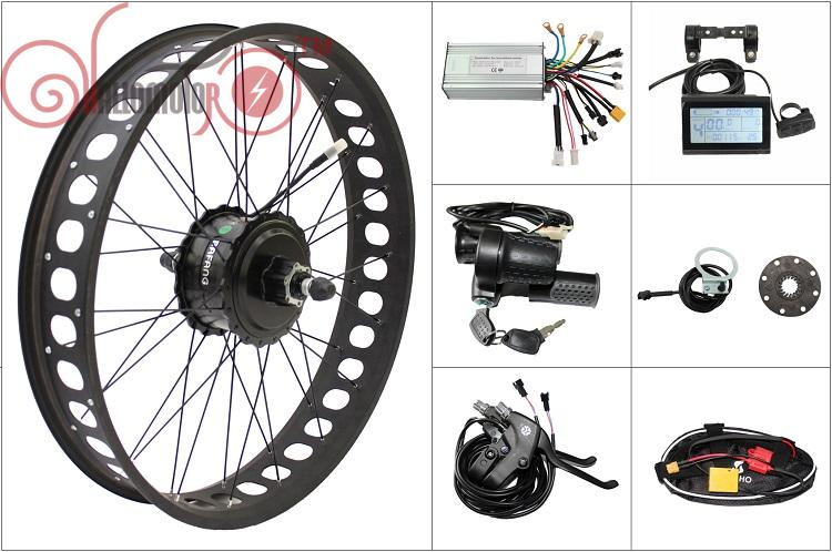 Free Shipping 48V 750W 8Fun Bafang Motor Bike Freehub Cassette Fat Tire Rear Wheel Electric Bicycle Conversion Kit 190mm Ebike pasion e bike 48v 500w electric fat bikes bicycle gear hub motor conversion kit bafang 190mm 26 rear wheel 80mm rims