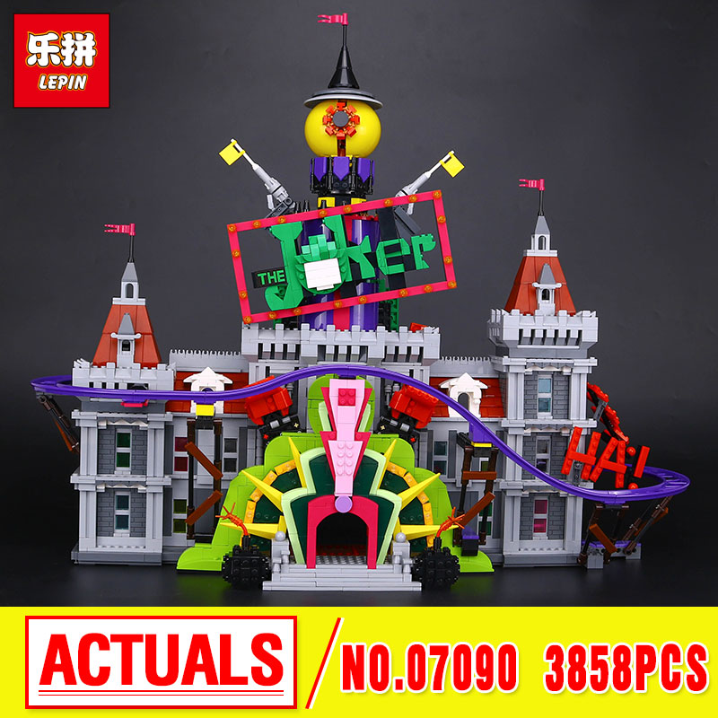 Lepin 07090 The Joker`s Manor Set 3857Pcs Super Hero Series 70922 Building Blocks Bricks Christmas Children Boy's Gift DIY Toys black pearl building blocks kaizi ky87010 pirates of the caribbean ship self locking bricks assembling toys 1184pcs set gift