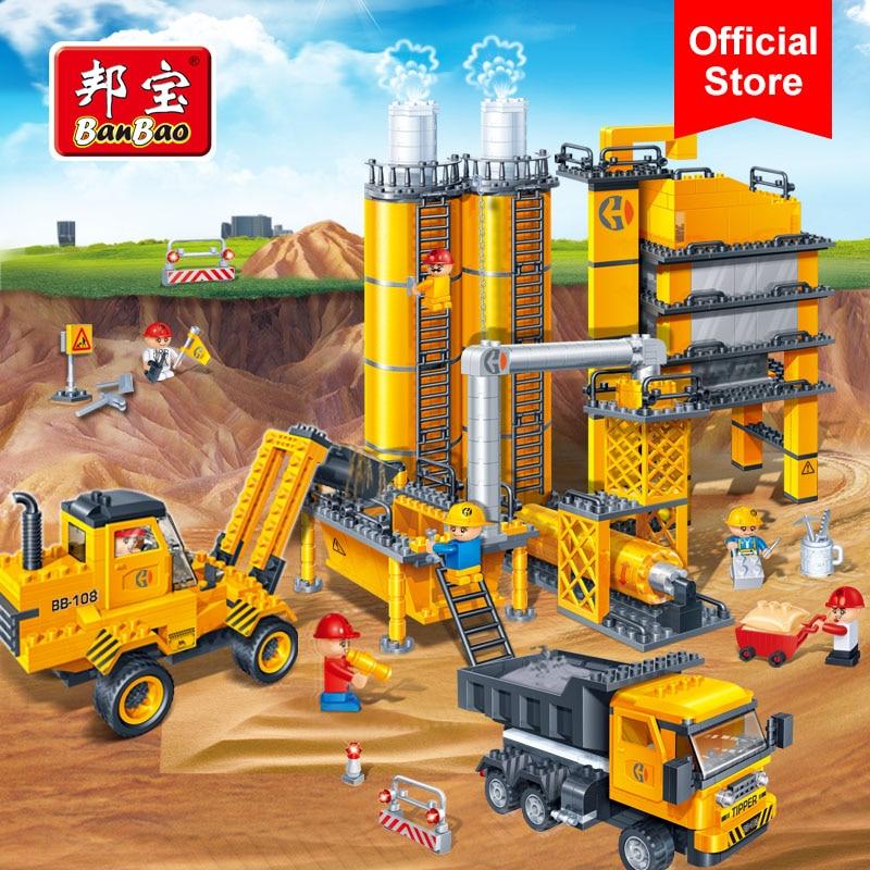BanBao 8531 inżynierii budowlanej betonowóz klocki edukacyjne modelu budynku zabawki dla dzieci dzieci przyjaciel prezent w Klocki od Zabawki i hobby na  Grupa 1