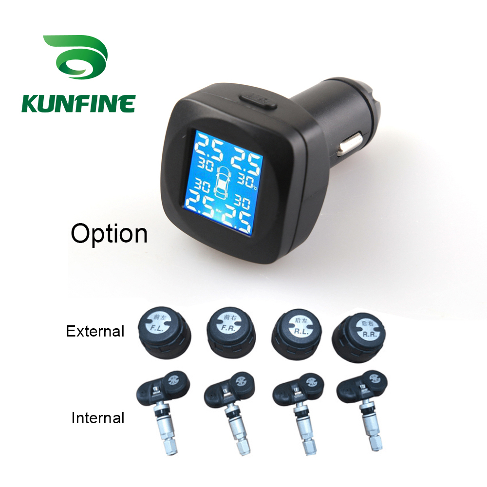 Smart Car TPMS Tyre Pressure Monitoring System cigarette lighter Digital LCD Display Auto Security Alarm Systems (9)