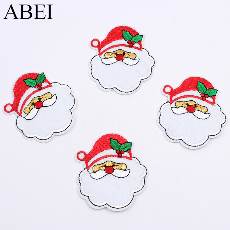 Christmas Stickers.Us 1 75 10pcs Lot Embroidered Santa Claus Patches Iron On Christmas Stickers Diy Sewing Fabric Appliques For Jeans Coats Shirt Hat Badge In Patches