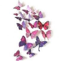Мультфильм бабочка наклейки бумаги детская комната Домашний декор вставьте на стене или наклейки Бесплатная доставка, в наличии