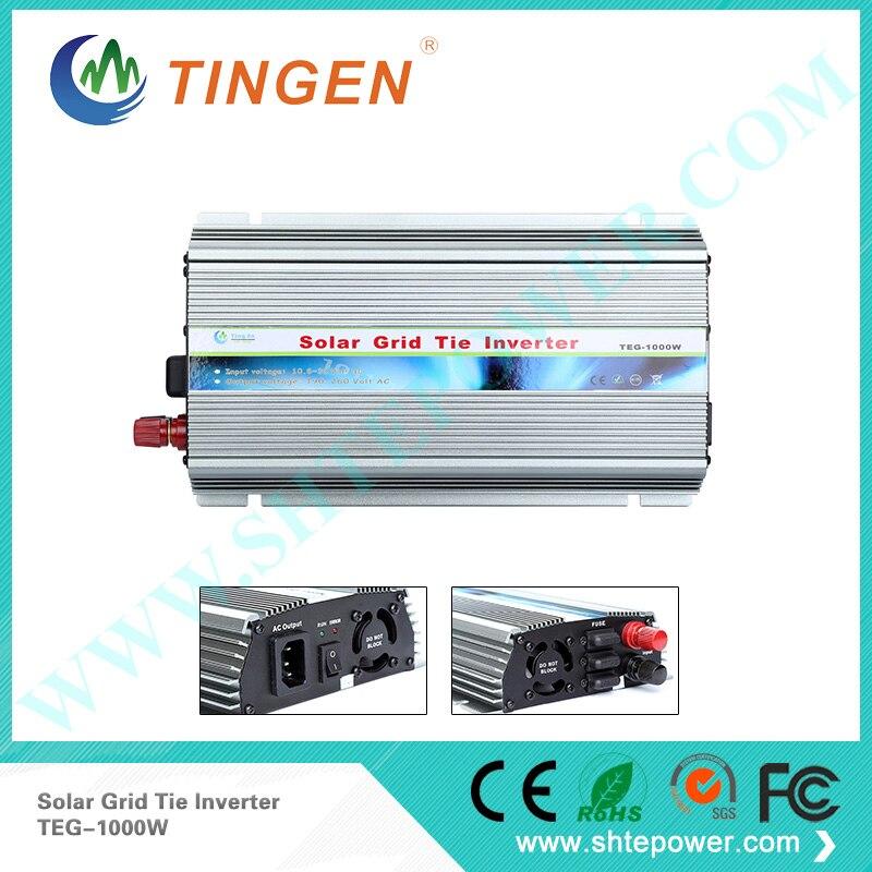 1KW 1000 Вт Инвертор постоянного тока 10,8 28 В к AC 190 260 В выход ЕС гнездо, TNT UPS Бесплатная доставка Солнечная сетки галстук инвертор
