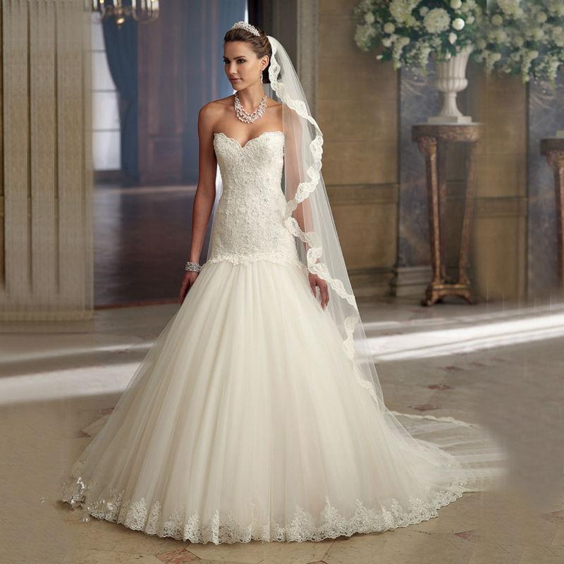 2017 Vintage Wedding Dress Elegant Sweetheart Pearl