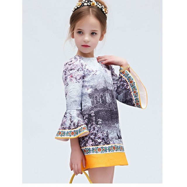 Kids Wedding Dresses Long Sleeve Teenage Girls Clothing Robe - Wedding Dresses For Teenage Girl