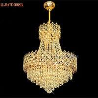 Laiting Dia 56 см Корона Форма элегантный Дизайн украшения дома кулон легких коммерческих Уникальные кристаллы торшер lt 70038