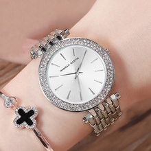 Top Luxury Brand Ladies Wrist Watches Silver Steel Women Bracelet Watch