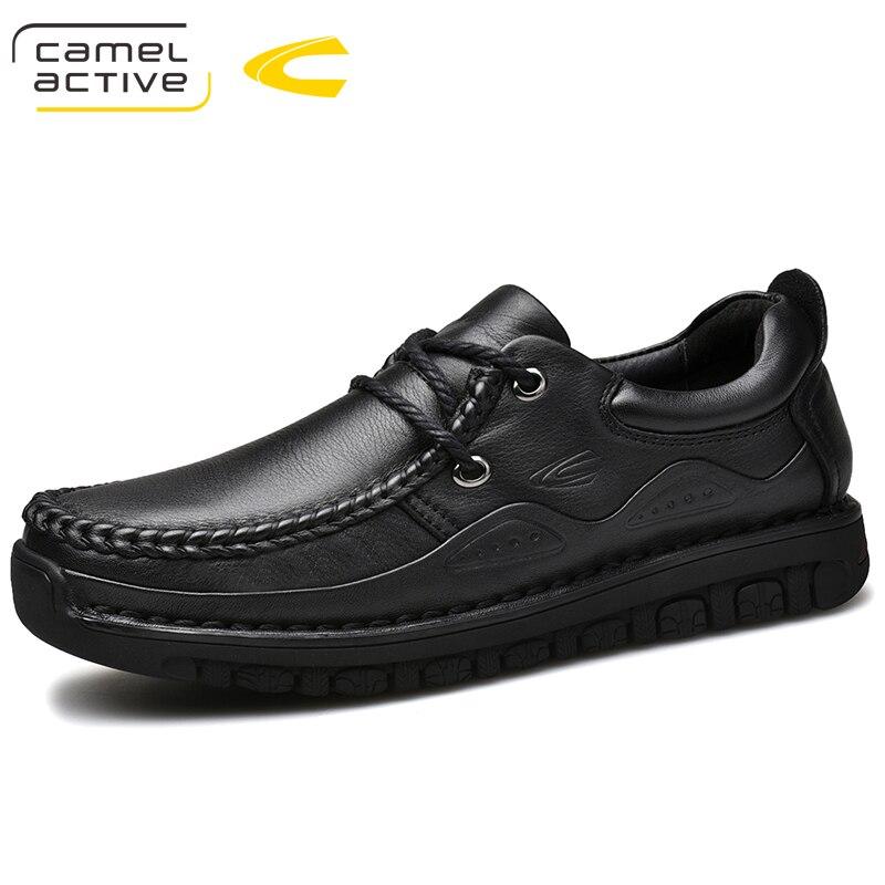 Camel Active nowych mężczyzna buty w stylu Casual oryginalne skórzane buty męskie sznurowane oddychające miękkie jesień na co dzień mieszkania formalne buty Plus rozmiar w Oxfordy od Buty na  Grupa 1