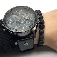 New Fashion Classic Natural Stone Black Volcanic Lava Beads Bracelets High Quality Energy Stone Bracelet for women men Gift Yoga