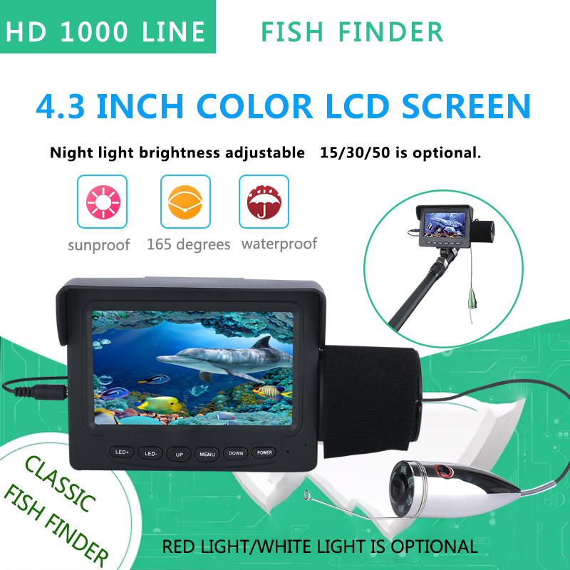 Security & Protection 15m 30m 4.3 Inch 1000tvl Underwater Fishing Video Camera Kit 12 Pcs Led Ir Lights Video Fish Finder Lake Under Water Fish Cam Surveillance Cameras
