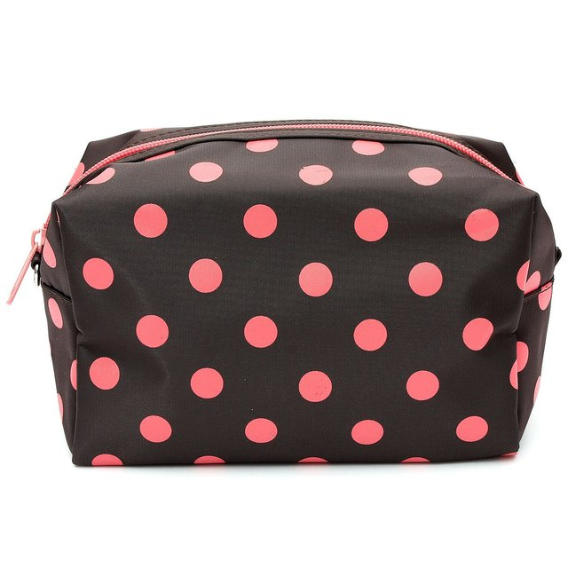 Wholesale 10* Cosmetic/Make-Up/Organizer Bag Pouch Zipper Hand Case coffee