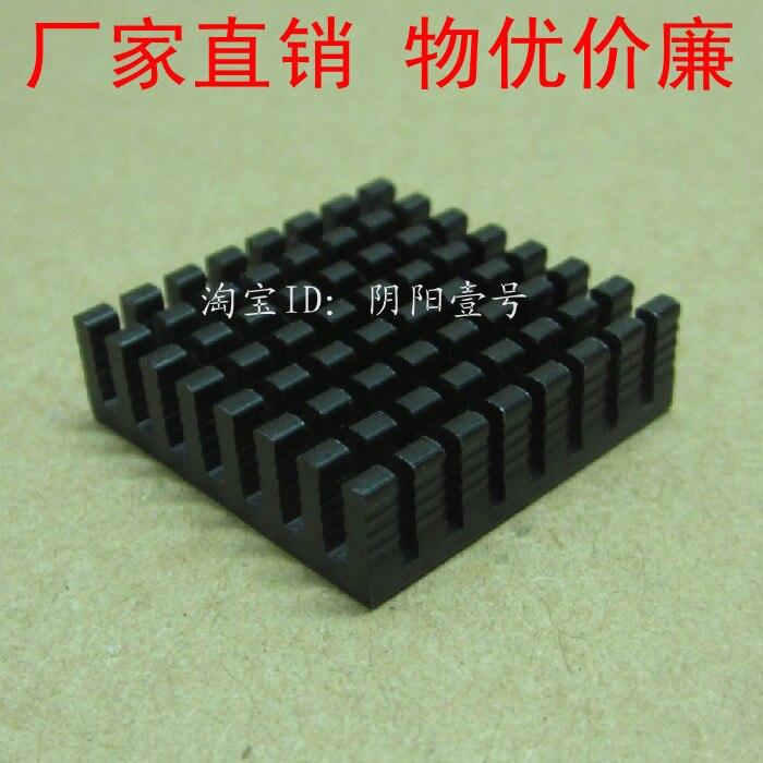 Free Ship Brand New 100PCS Custom Black Aluminum IC Heatsink 28*28*8mm  Chip Heatsink XP104003