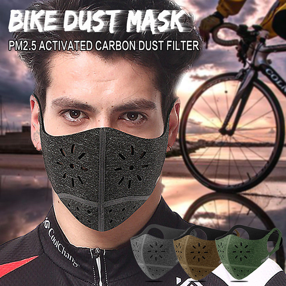 Audaz Filtro De Algodón N95 Máscara Facial De Carbono Para Motocicleta Máscara Universal De Medio Rostro Bikecycle Mascarilla De Polvo Duradera Para Ciclismo Con Filtro