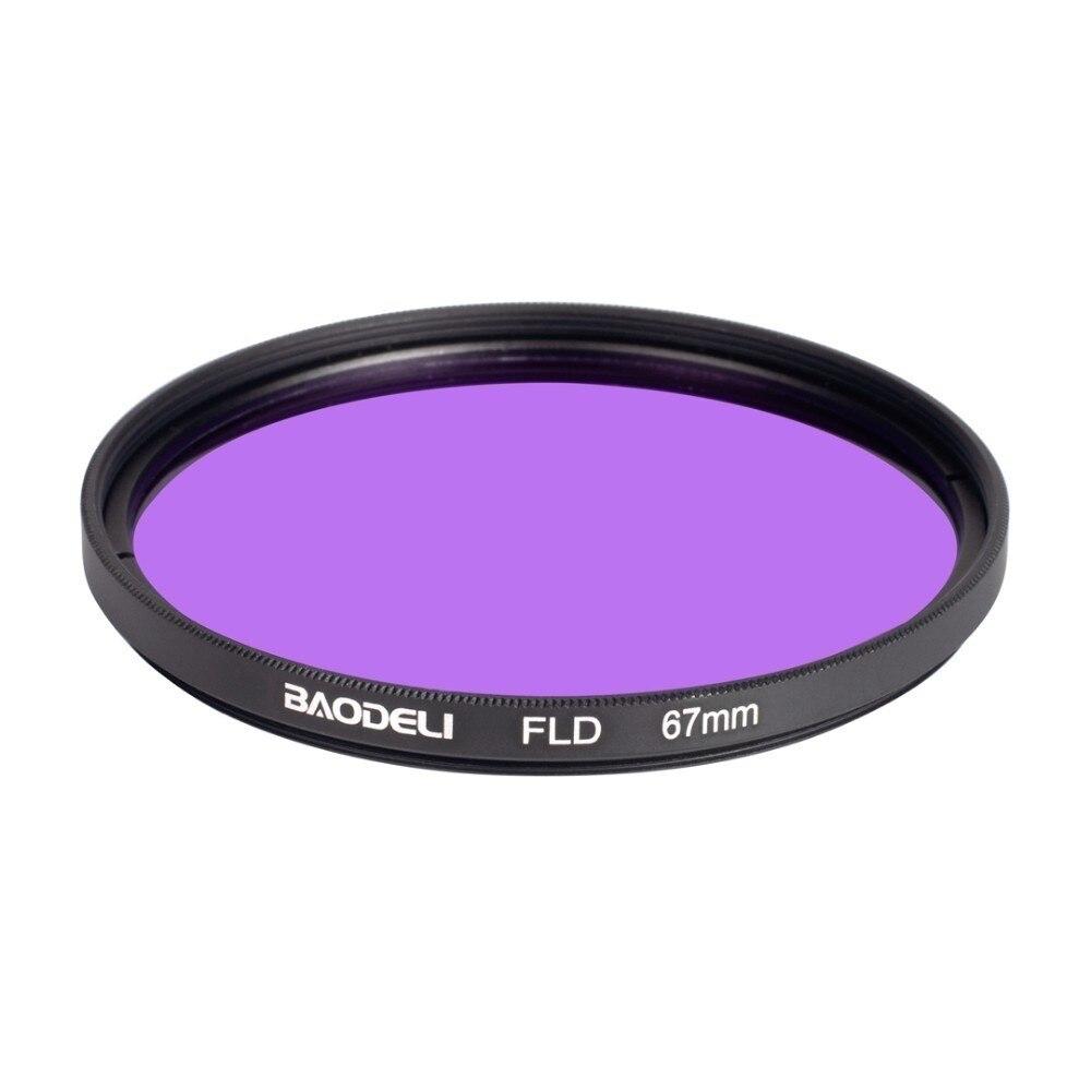 """מוצרי טיפוח ובריאות BAODELI DSLR עדשה Filtro FLD מסנן 49 קונספט 52 55 58 62 67 77 82 72 מ""""מ מ""""מ עבור אביזרים מצלמה Canon Nikon D5300 סוני A6000 (3)"""
