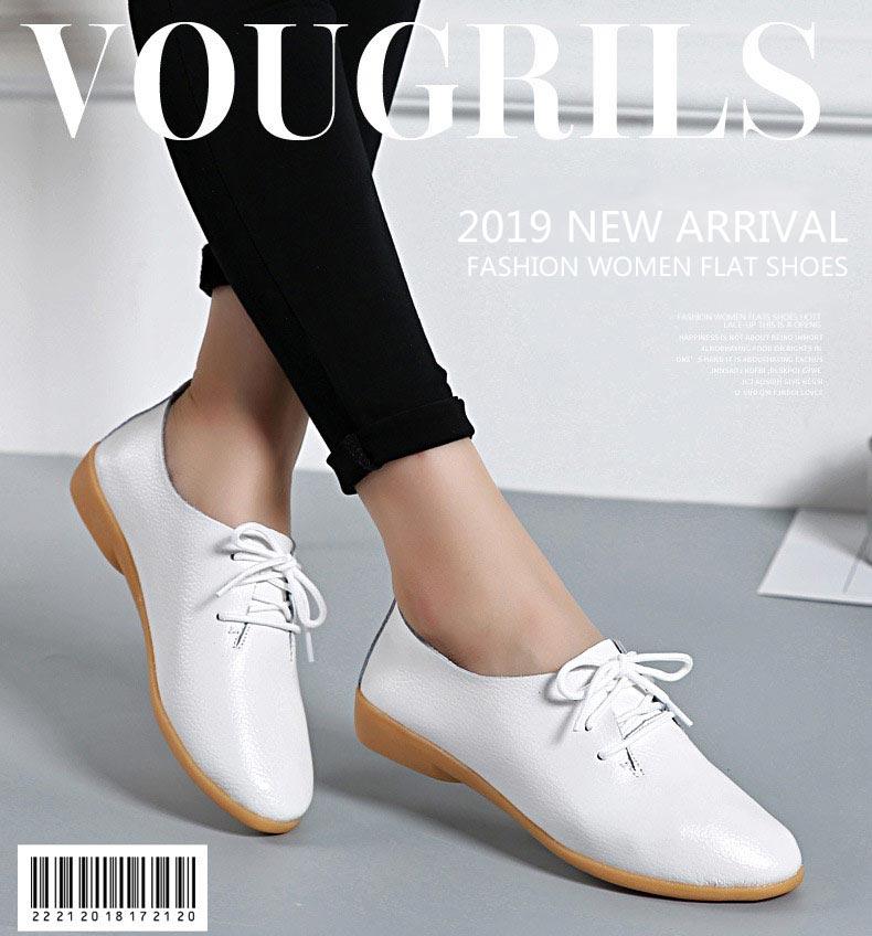 Kobiety mieszkania 2019 pojedyncze oxford buty jesień damskie buty mieszkania skórzane mama jednolity kolor mokasyny na codzień kobieta tenis feminino