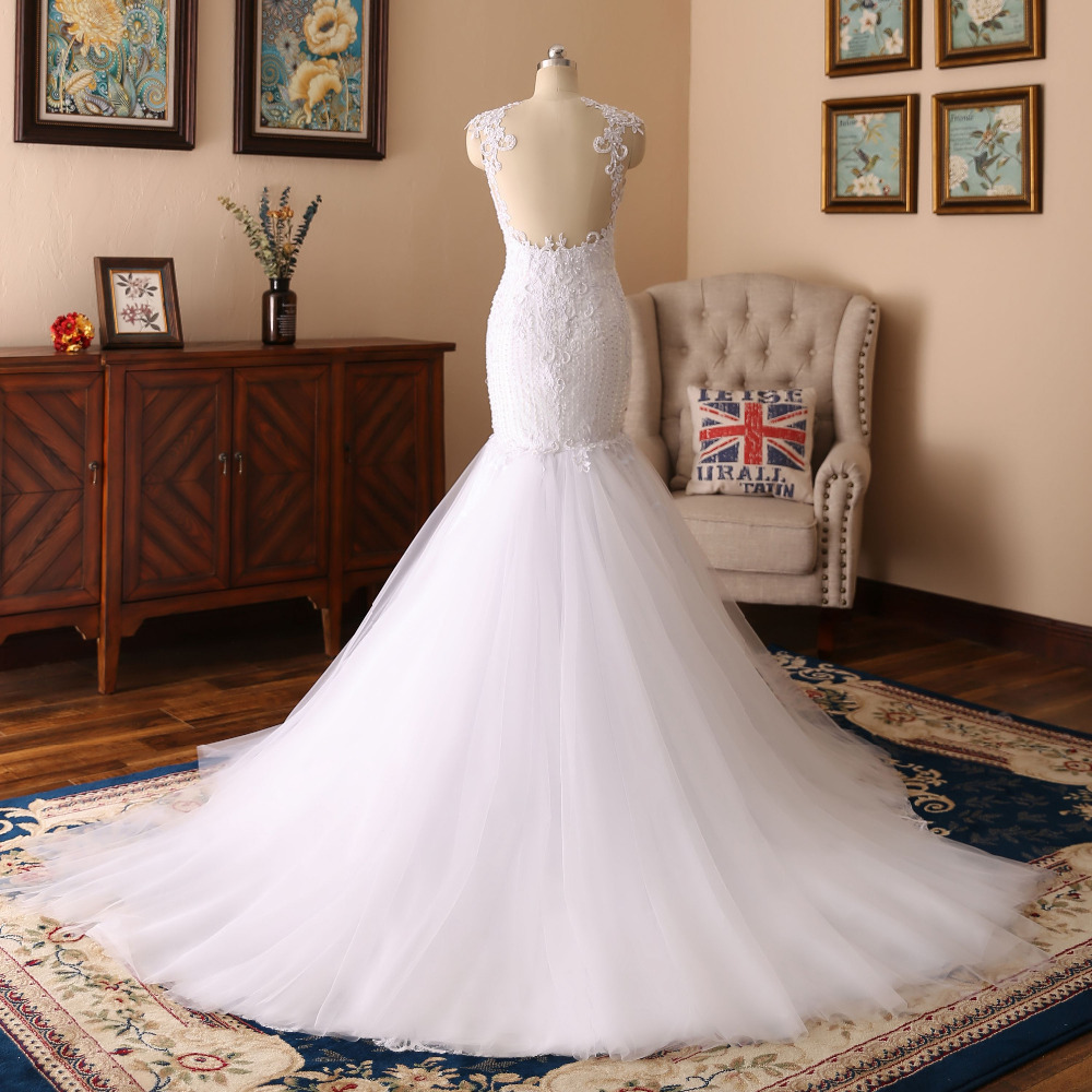 Lover Kiss robe de mariee bustier Lace Mermaid Wedding Dresses Gowns ...