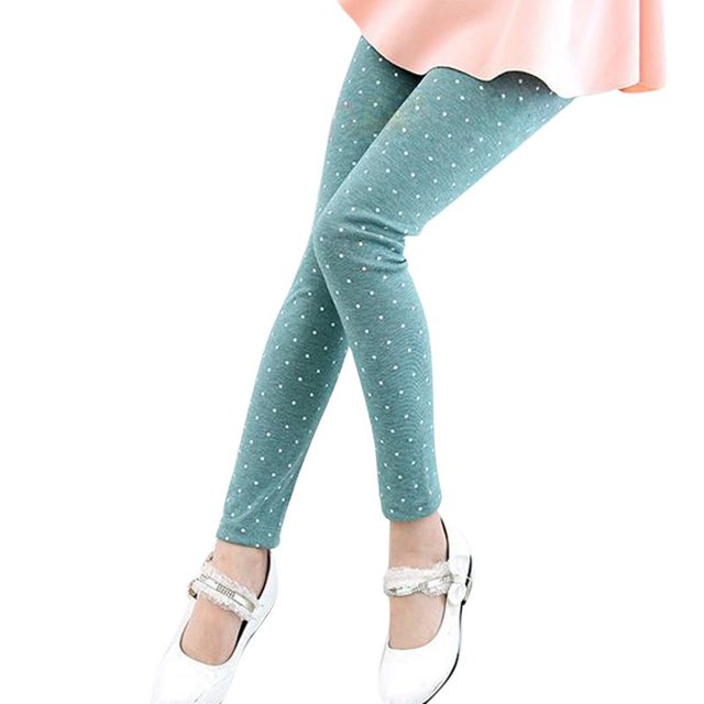 Осень 2017 г. детская зимняя Повседневные штаны для мужчин девушка Тянущиеся штаны- леггинсы для детей 2-7 лет Карамельный цвет