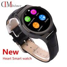 2015 neue Ankunft Luxus Bluetooth Smart Uhr DM15 Herzfrequenz Uv-detektion Armbanduhr SIM-TF-KARTE Smartwatch Für Android iOS