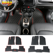 BAWA Rubber Floor Mats Foot Pad for Jeep Renegade 2016+ Car Interior Accessories