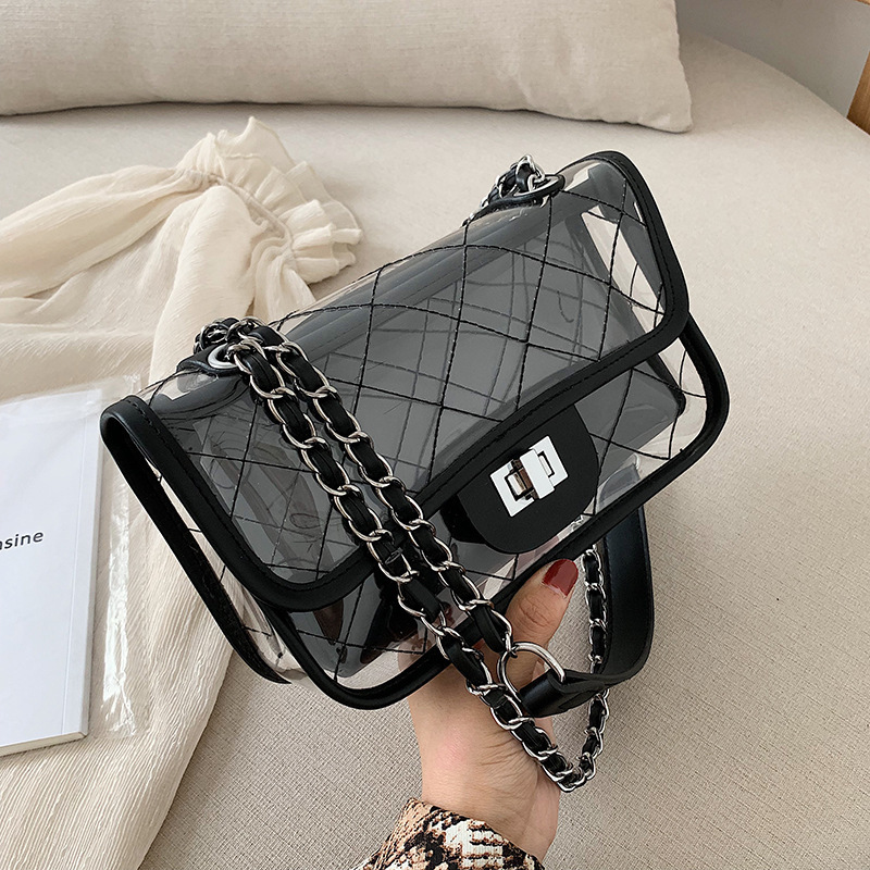 Summer Transparent Jelly Crossbody Bags For Women 2019 Quality PVC Luxury Handbags Designer Ladies Composite Clear Shoulder Bag in Shoulder Bags from Luggage Bags