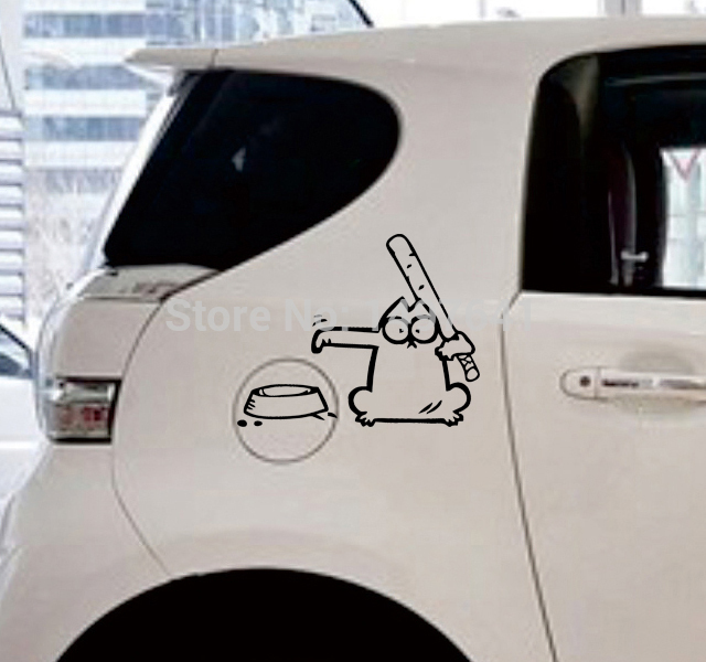 Aliexpresscom  Buy  Pcslot Funny JDM SimonS V Cat Car Right - Cool car decal stickers