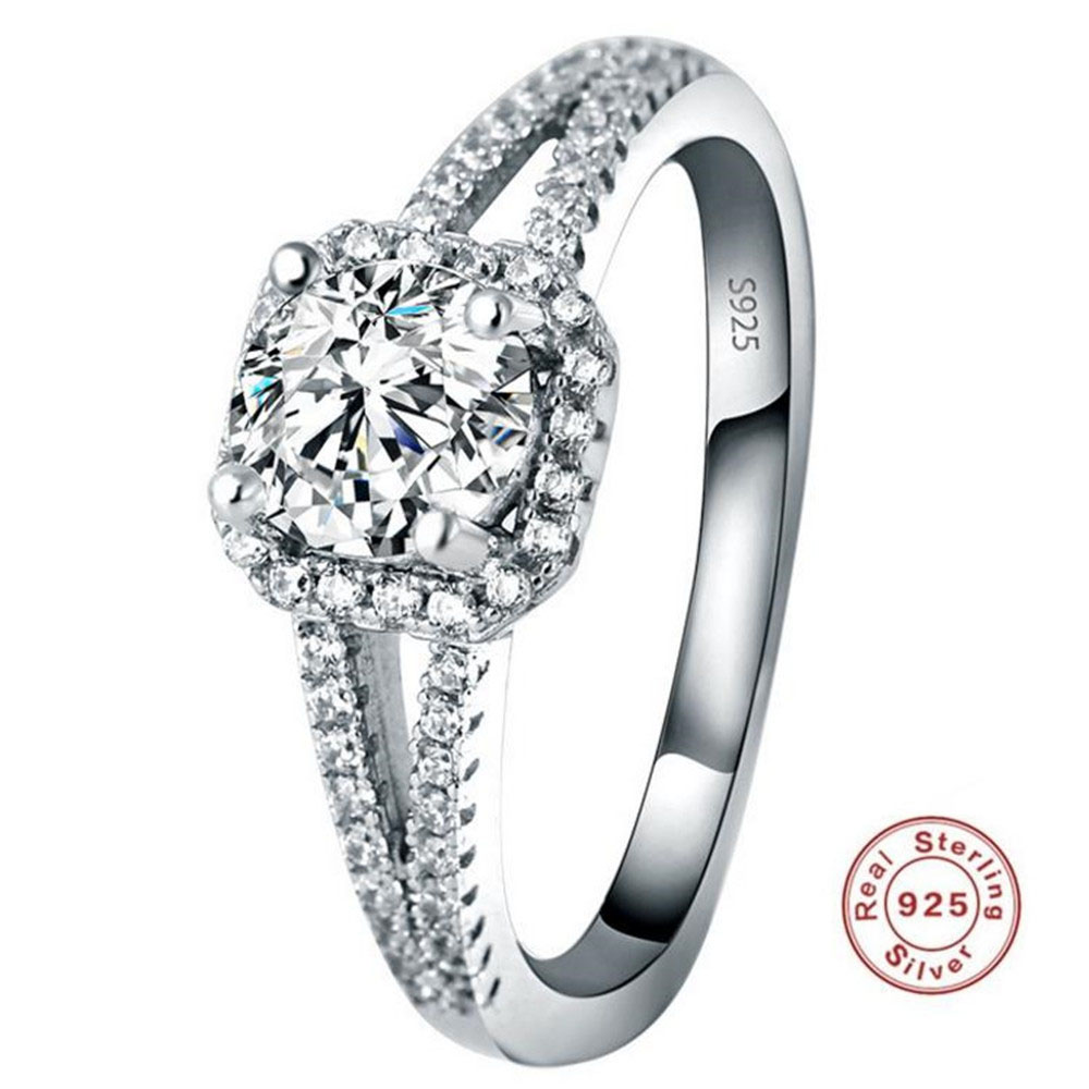 Hot Selling S925 Sterling Silver Diamond Ring