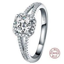 YKNRBPH Hot Selling S925 Sterling Silver Diamond Ring Womens Wedding Zircon Fine Jewelry Rings