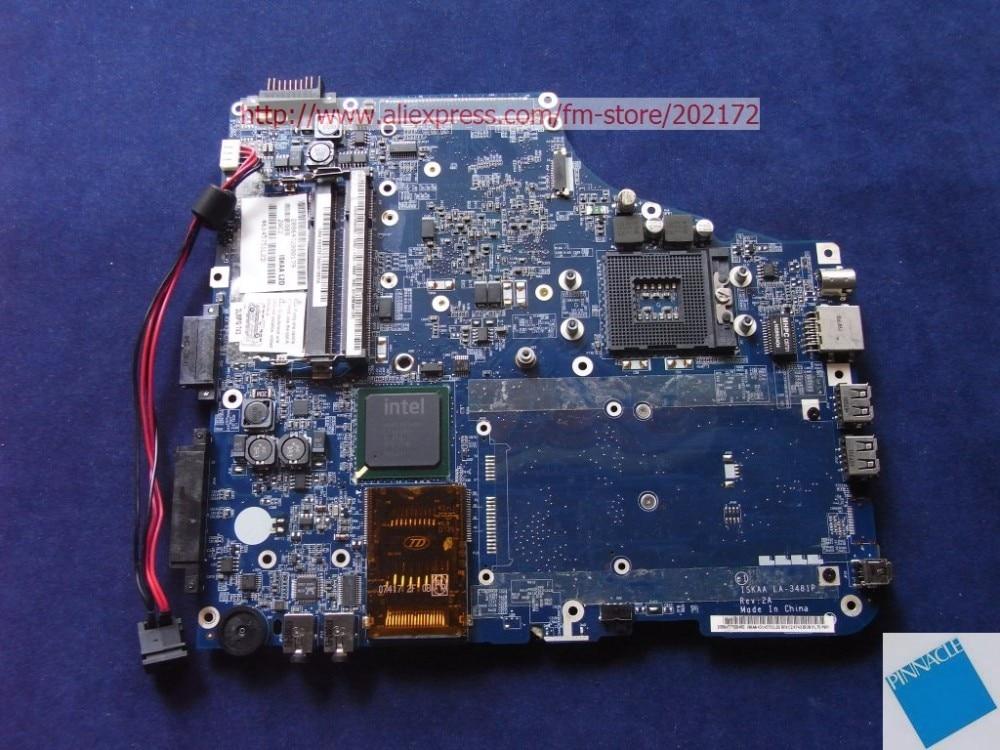 Toshiba Satellite Pro A200 Working Laptop Motherboard Intel K000055770 LA-3481P