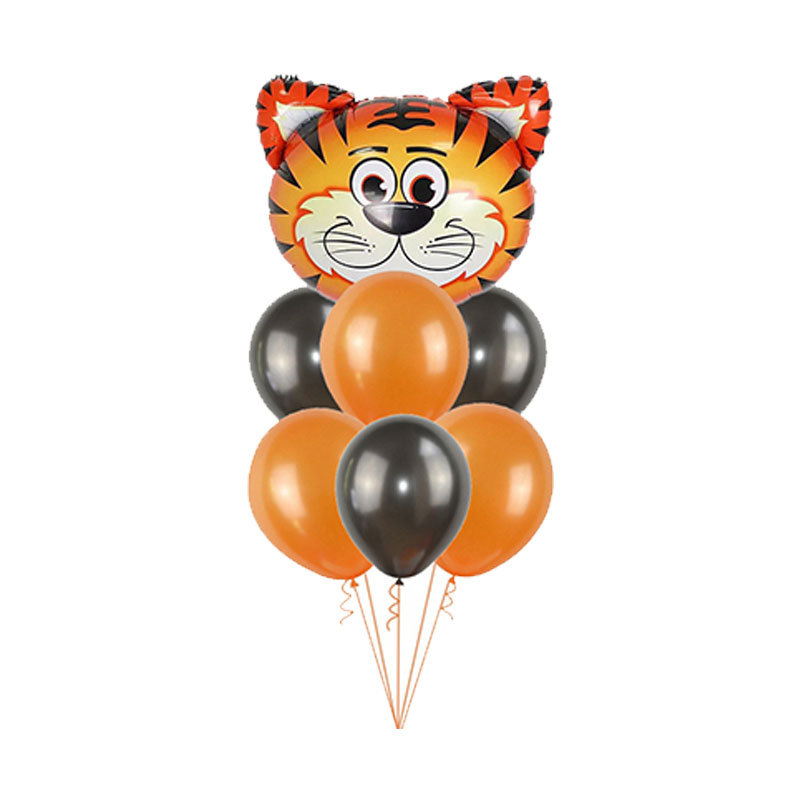 Image 4 - 1Set Foil Jungle Animal Balloons Tiger Lion Monkey Zebra Giraffe Elephant Baby Shower Children Happy Birthday Party Decoration-in Ballons & Accessories from Home & Garden