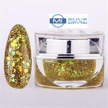 MISMXC 20ML 0.8OZ High Quality Soak Off UV Gel Shiny Colors Glitter Powder Nail Art Builder Gel 067