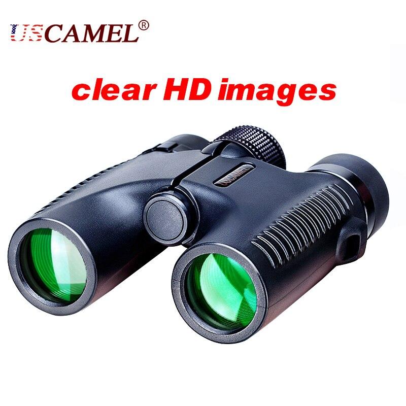 USCAMEL HD 10x26 бинокль с мощным приближением видимость на расстоянии 5000 м профессиональный водонепроницаемый бинокль с широким углом обзора для...